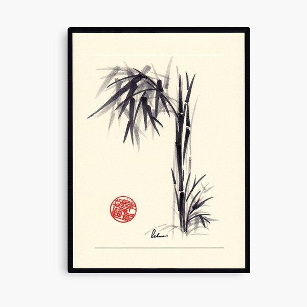 """Gray Morning"" Huntington Library & Gardens Plein Air drawing/painting Canvas Print"