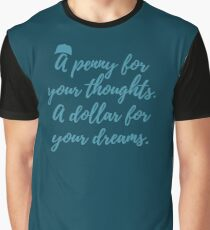 A penny for your thoughts. A dollar for your dreams. Perfect for Mac Miller rap lovers. Graphic T-Shirt