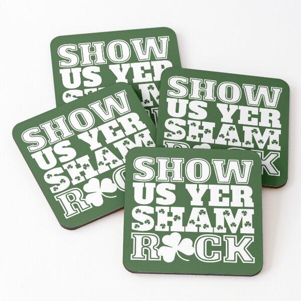 Show Us Yer Shamrock St Patricks Day Irish Design Coasters (Set of 4)
