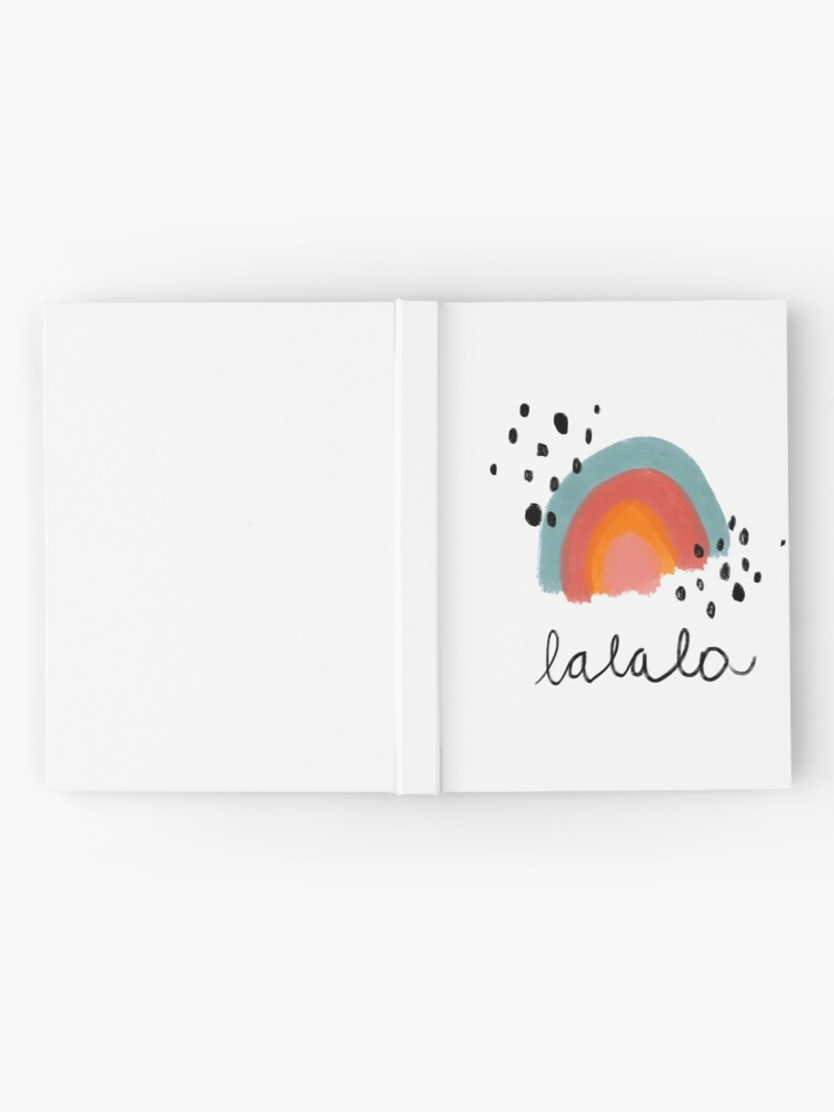 Alternate view of Happy rainbow in pastel colors Hardcover Journal
