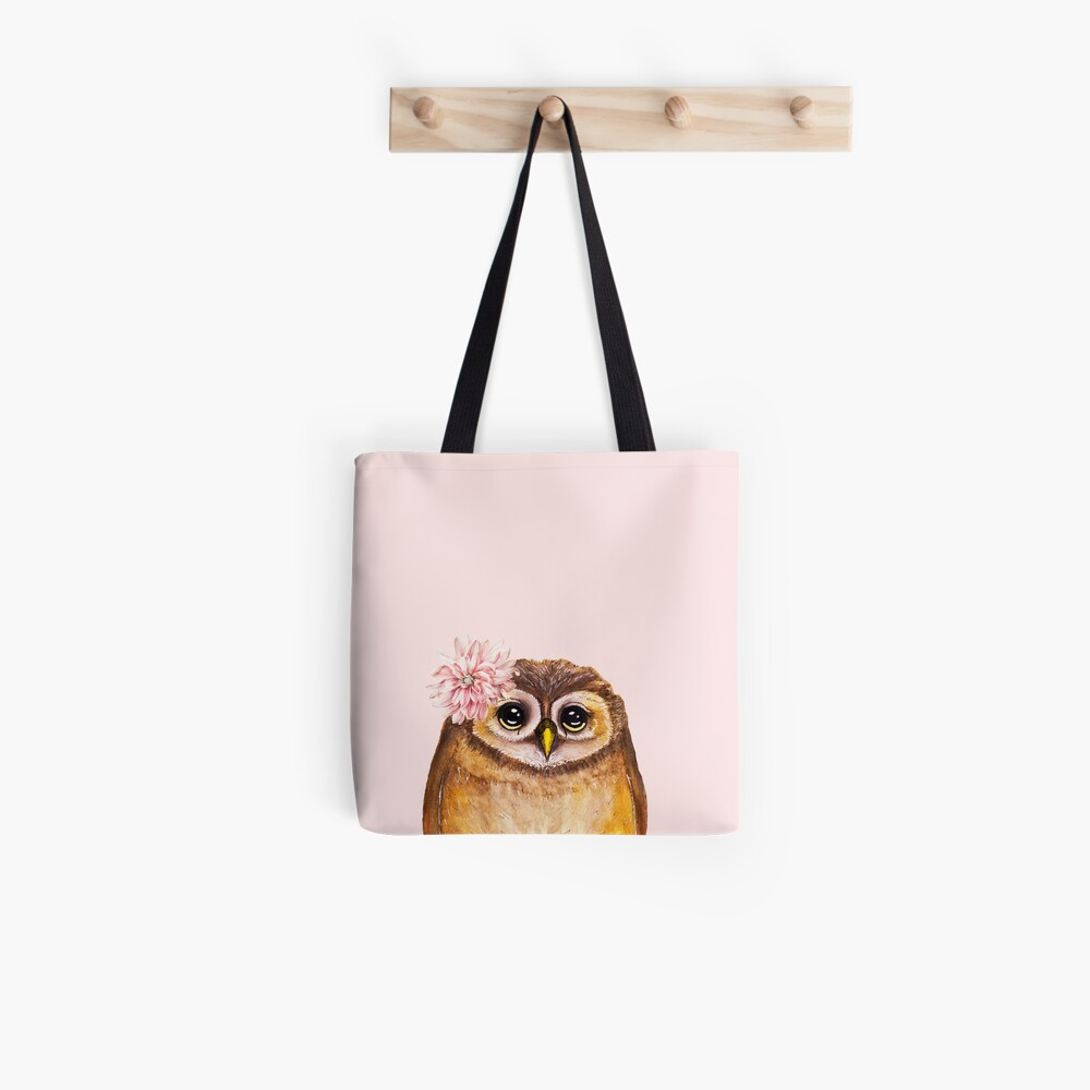 Rosalie, the Baby Owl Tote Bag