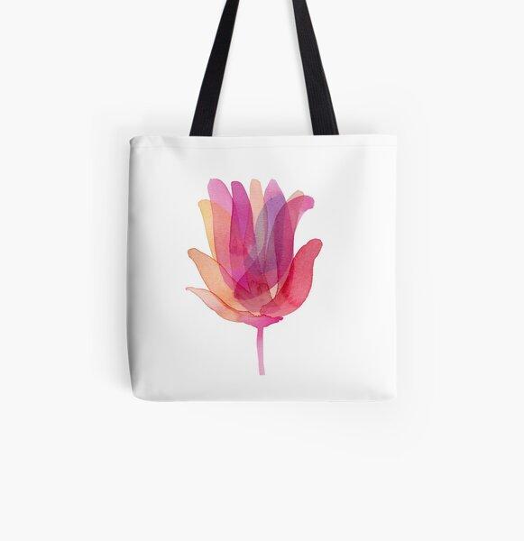 Watercolor Tulip transparencies All Over Print Tote Bag
