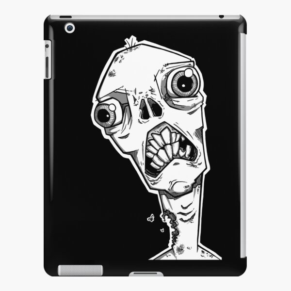 Toothy Smile - Black & Gray iPad Snap Case