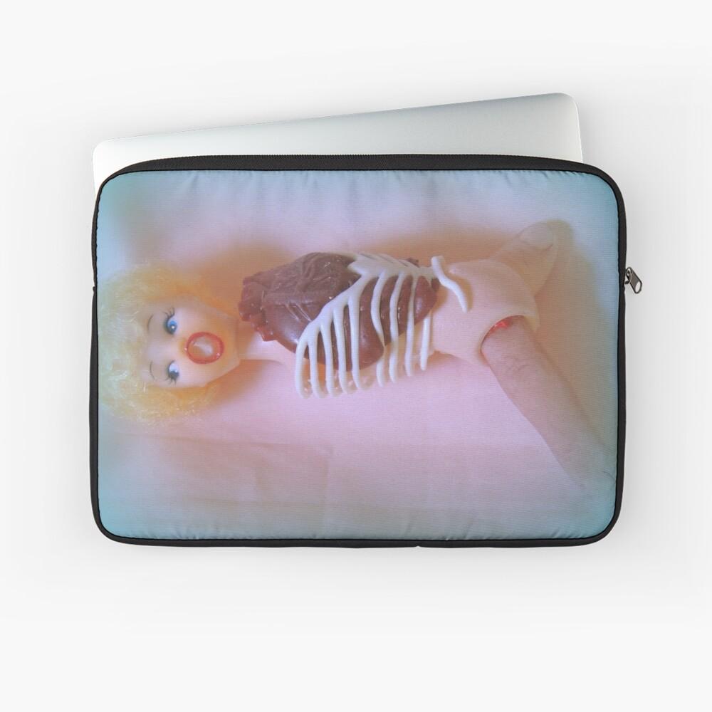 Horror Doll Assemblage ~ Lady Scream Laptop Sleeve