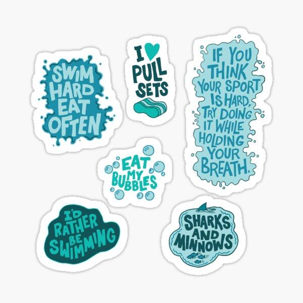 Swimming Graphic Pack Sticker