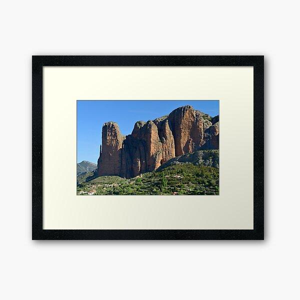 The Mallos de Riglos, rock formations Framed Art Print