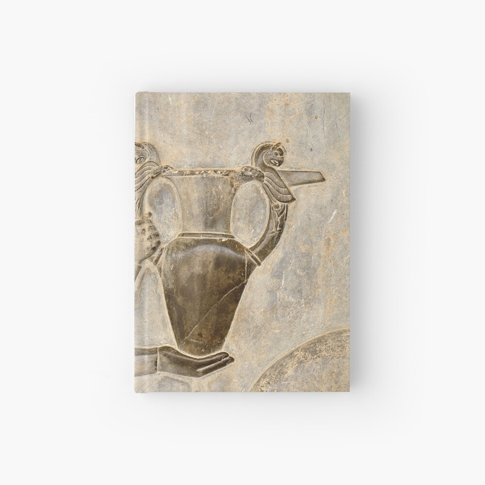 Relief Of The Eastern Stairs In Persepolis Spiral Notebook By Studio838 Redbubble