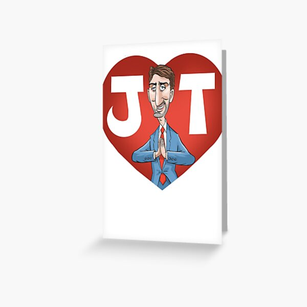 I heart Justin Trudeau (With beard. Updated in Feb 2020) Greeting Card
