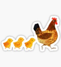 Chicken and chicks Sticker