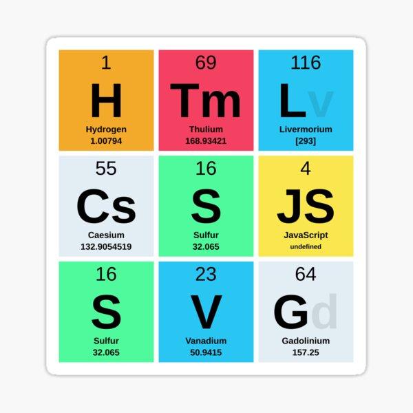 Primary Elements of Web Development Sticker