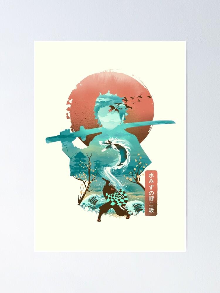 Alternate view of Tanjiro Poster