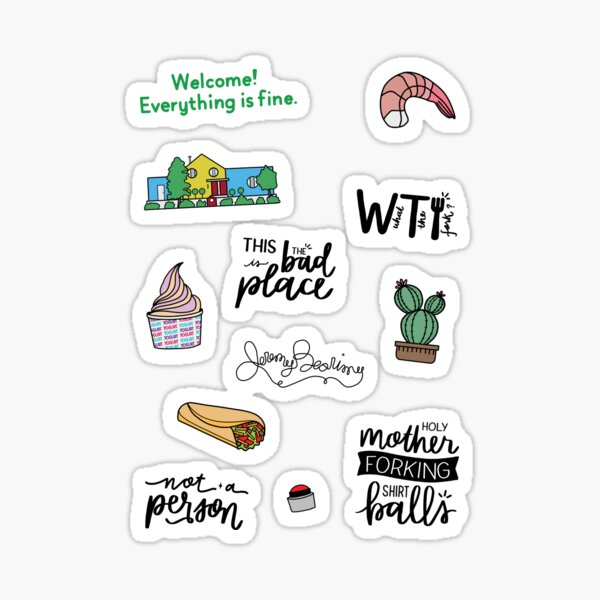 The Good Place TV Show Art Sticker