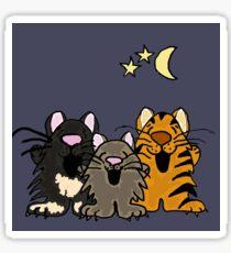 Three Funny Singing Cats Original Art Sticker
