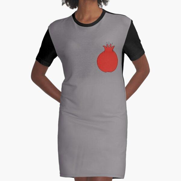 Pomegranate | انار Graphic T-Shirt Dress