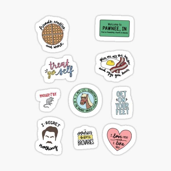 Parks und Erholung TV Show Art Sticker