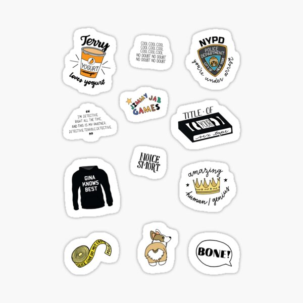 Brooklyn Nine Nine TV Show Art Sticker