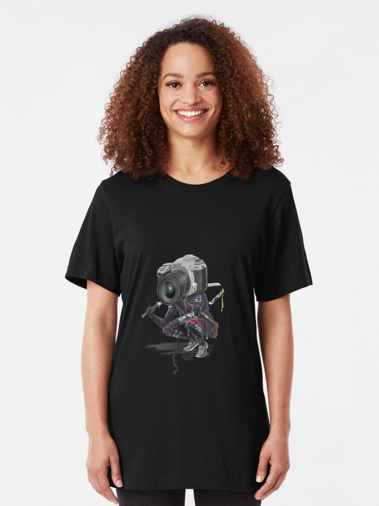 Vista alternativa de Camiseta ajustada Pentax K5 Silver Samurai
