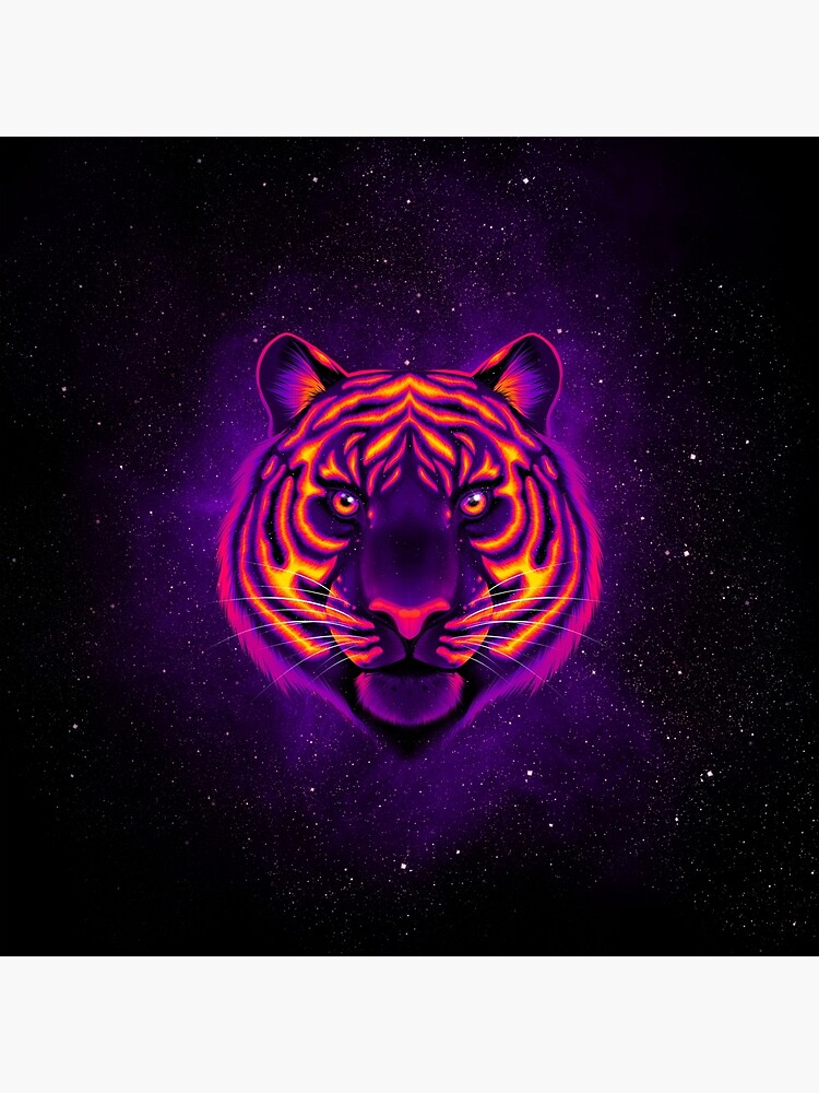 Rave Tiger Galaxy Art Board Print By Thedesignosaur Redbubble