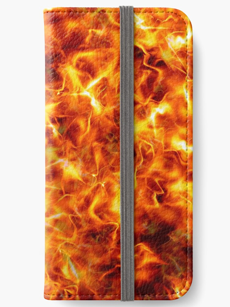 iPhone Wallet decorated with flames