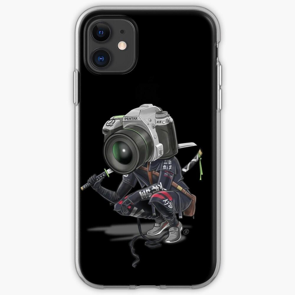 Pentax K5 Silver Samurai (negro) Funda y vinilo para iPhone