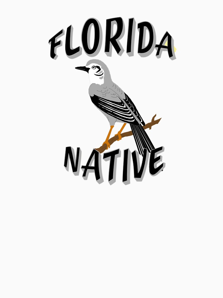 Florida Native with State Bird the Mocking Bird by Rightbrainwoman