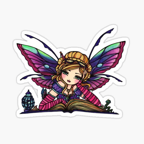 Bookworm Fairy by Hannah Lynn  Sticker