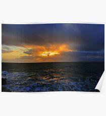 Sunset near Hook Head Lighthouse Poster