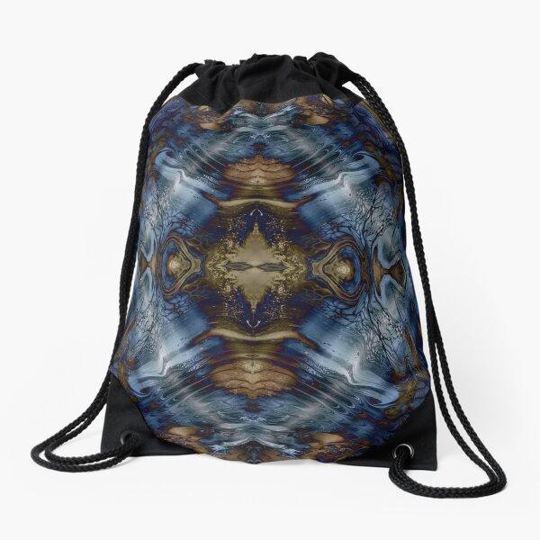 Wood and Water Drawstring Bag