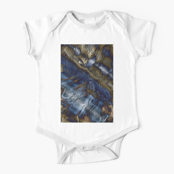 Wood and Water Short Sleeve Baby One-Piece