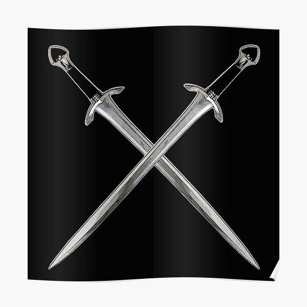 Gekreuzte Schwerter Poster