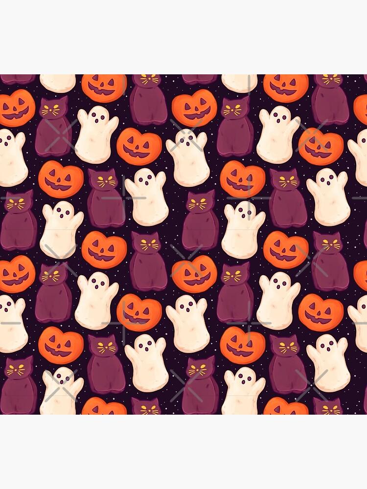 Halloween Marshmallows Dark by paisleydrawrrs