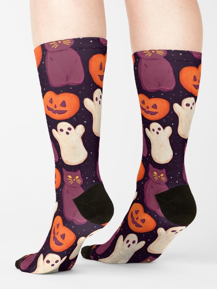 Alternate view of  Halloween Marshmallows Dark Socks