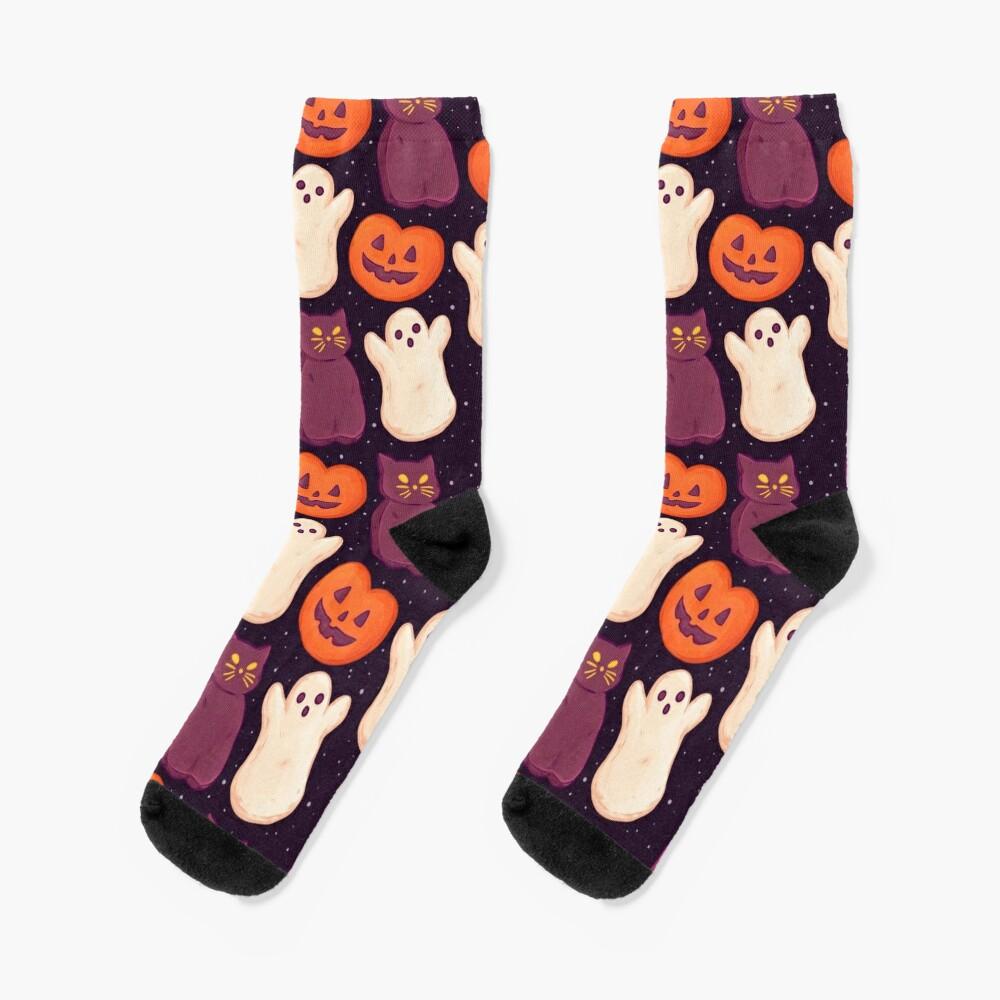 Halloween Marshmallows Dark Socks