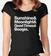 Sunshine, Moonlight & Boogie Ampersand Helvetica Getup Women's Fitted Scoop T-Shirt