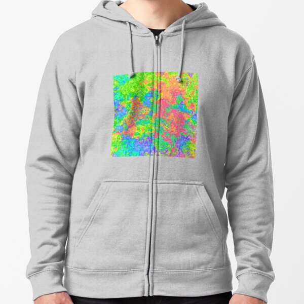 Abstract pattern Zipped Hoodie