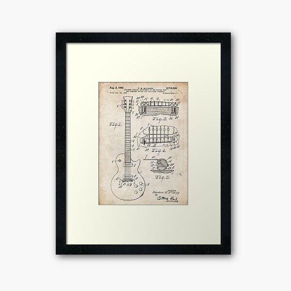 Gibson Les Paul Guitar US Patent Art 1955 Framed Art Print