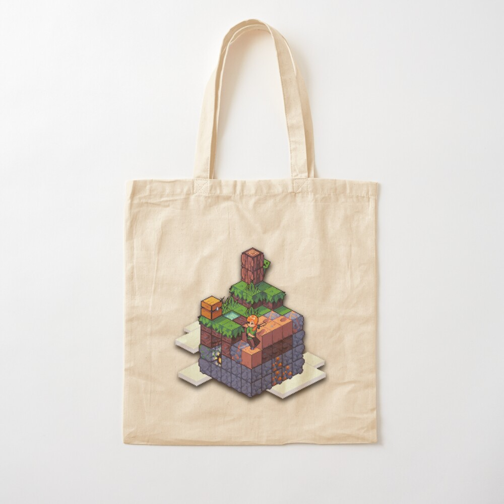Minecraft Skyblock Pixel Art Tote Bag By Joselepecheur Redbubble