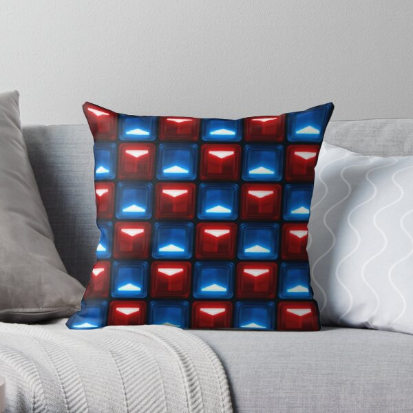 Beat Saber - V2 Block Pattern Throw Pillow