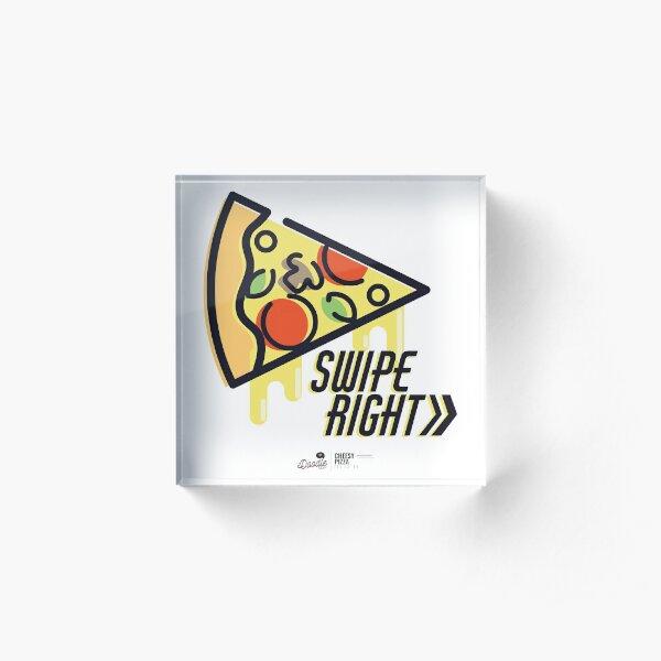 """""""Cheesy Pizza"""", rebanada de pizza para fiestas y citas Bloque acrílico"""
