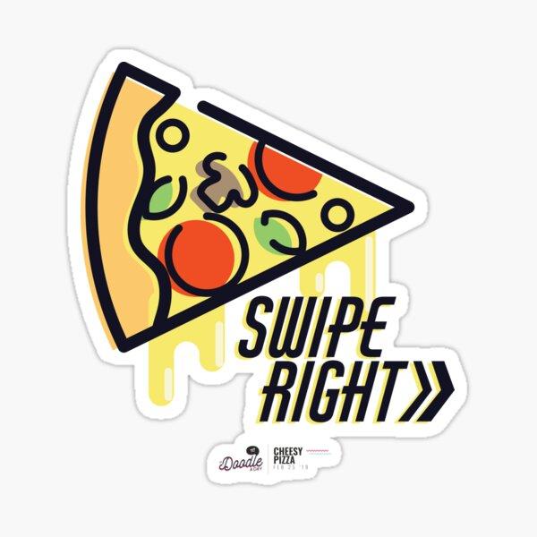 """""""Cheesy Pizza"""", rebanada de pizza para fiestas y citas Pegatina"""