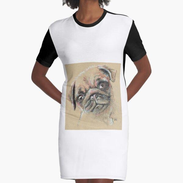 Bella the Pug Graphic T-Shirt Dress