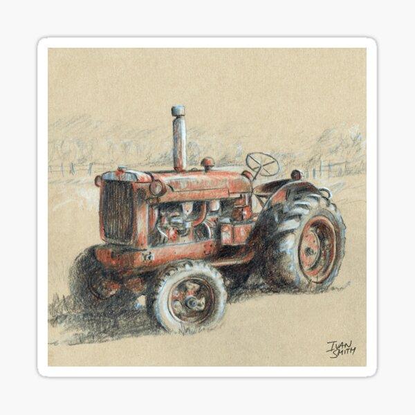 Old farm tractor Sticker