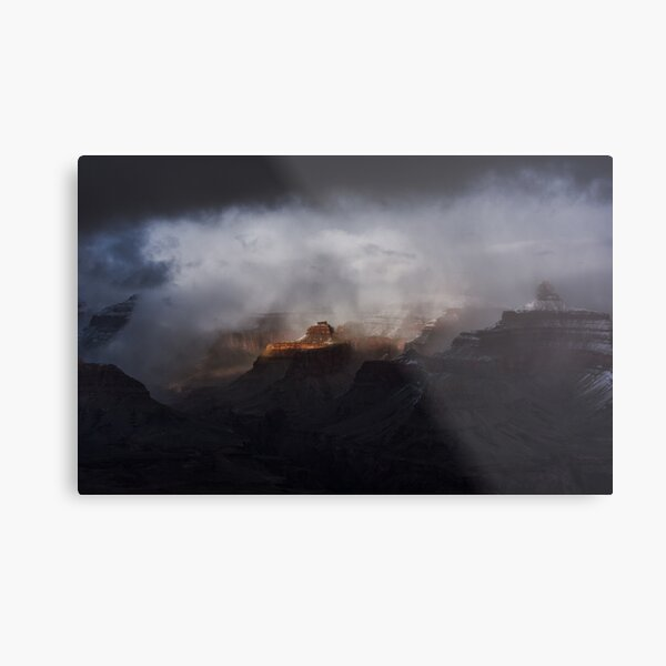 Blizzards over Grand Canyon Metal Print