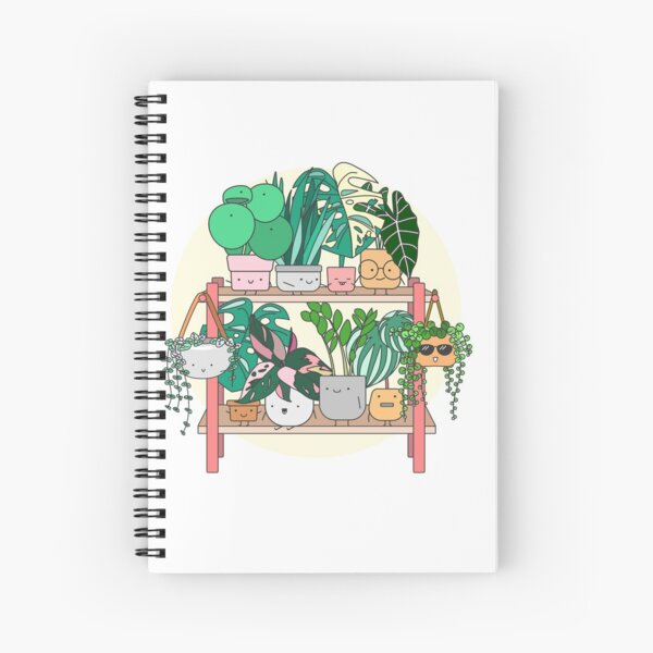 Little Plant Stand of Joy Spiral Notebook
