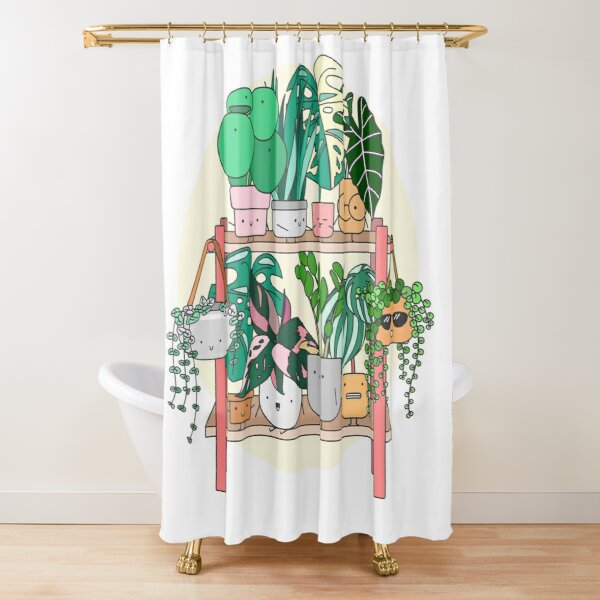 Little Plant Stand of Joy Shower Curtain