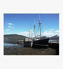 Ships at Low Tide Photographic Print