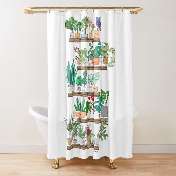 Plant Shelfie Shower Curtain