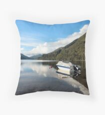 Dave's Boat Throw Pillow