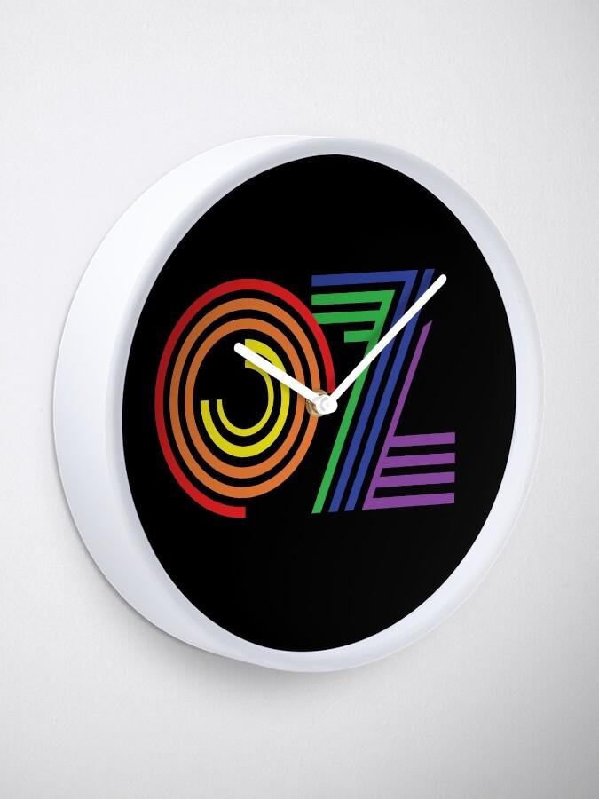Alternate view of Australia, Aussie, OZ Rainbow Clock