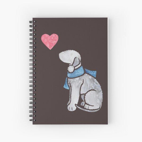 Watercolour Bedlington Terrier (blue) Spiral Notebook